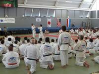 семинар по соревновательному айкидо перед началом чемпионата