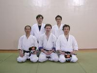 Алексей Вячеславович в окружении сенсеев из Японии. Семинар Томики айкидо в 2007 году.