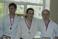 Призёры соревнований по айкидо 2007. Мужское танто рандори