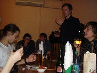 В кафе посидели знатно! Было поднято множество тостов за здравие, дружбу, мир во всём мире, и прочей лабуды. Даже фотографировать некогда было.